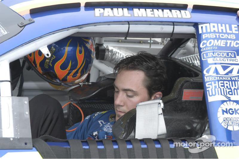 Paul Menard waits to qualify