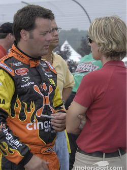 Robby Gordon and Julie Giese