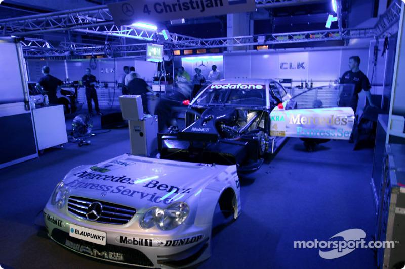 AMG-Mercedes garage area