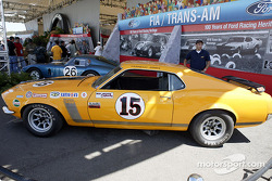 A Boss 302 Mustang on display