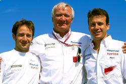 Cristiano da Matta, Ove Andersson and Olivier Panis