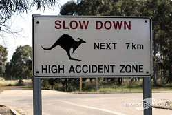 Typical road sign in Australia