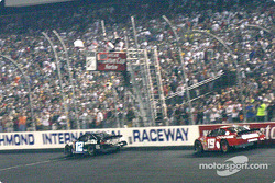 Ryan Newman and Jeremy Mayfield take the white flag