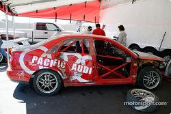 David Sanborn's wrecked #77 STaSIS Audi A4
