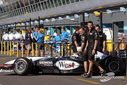 McLaren team members