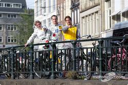 Press conference in Zandvoort: Peter Terting, Christijan Albers and Jeroen Bleekemolen