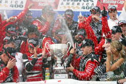 Champagne shower for Ryan Newman
