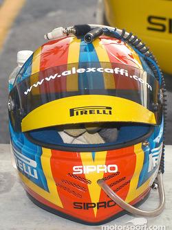 Alex Caffi's helmet