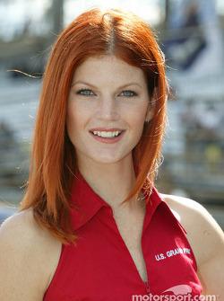 Une belle hôtesse du GP des Etats-Unis