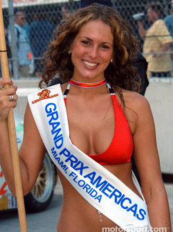 A Grand Prix Americas grid girl