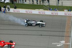 Kimi Raikkonen takes off for parade lap