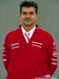 Toyota photo shoot: Race Engineer Dieter Gass