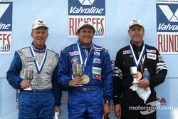 Race winner John Mirro with Dennis Pavlina and Keith Young Jr.
