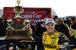 Matt Kenseth celebrates 2003 NASCAR Winston Cup championship