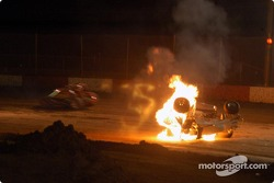 Hawaii sprinter Brandon Ternora catches on fire