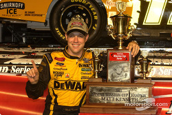 Matt Kenseth and the final Winston Cup championship trophy