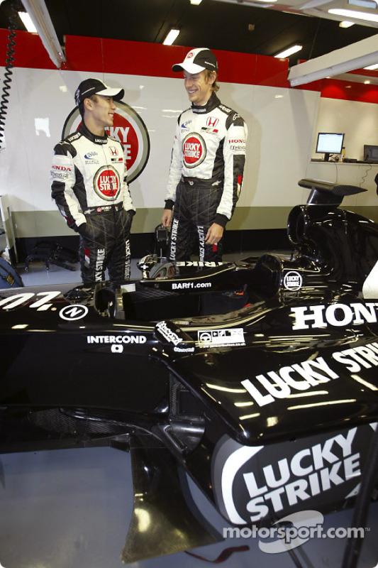 Jenson Button et Takuma Sato