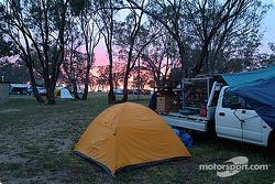 Camping on Mount Panorama