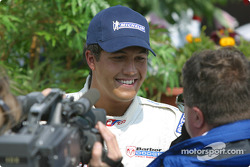Interviews for race winner Leonardo Maia