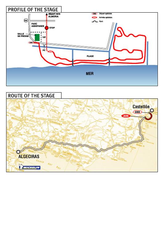 3e étape : 3 janvier, Castellon - Tanger