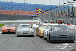 Cars lined up