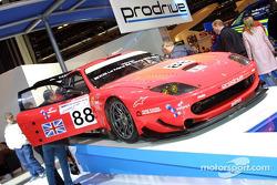 La voiture Prodrive qui a remporté la catégorie GTS au Mans en 2003