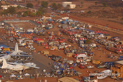 Aerial view of the bivouac at Bobo Dioulasso