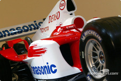 A detailed view of the Toyota TF104