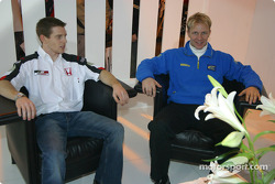 Petter Solberg and Anthony Davidson with BAR at Autosport International