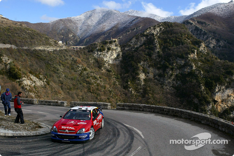 Sébastien Loeb lors du Rallye Monte Carlo 2004