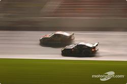 #17 AASCO Motorsports Porsche GT3 Cup: Mark Webber, Joe Kunz, Gary Becker, Patrick Flanagan, Derek Clark, and #83 Cirtek Motorsport Porsche GT3 RS: Rob Wilson, Frank Mountain, Martyn Konig