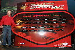 Bud Pole winner Jeremy Mayfield for the Budweiser Shootout