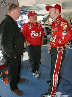 Dale Earnhardt Jr. in DEI garage area