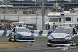 #27 Bill Fenton Motorsports Acura Integra LS: Eric Curran, Bob Beede, and #29 Bill Fenton Motorsports Acura Integra LS: John Schmitt, Mike Liebl