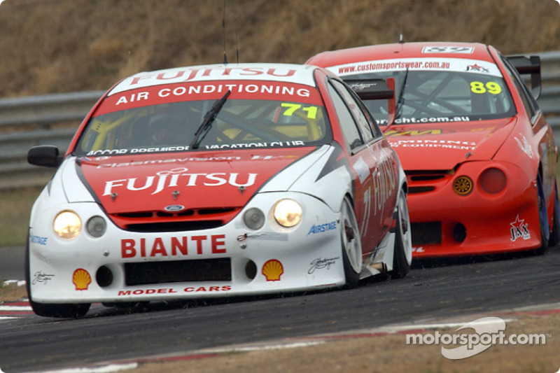 Owen Kelly in the Team Fujitsu Ford was under pressure all weekend