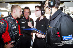 Gianmaria Bruni discusses with his engineers