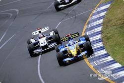 Jarno Trulli and Juan Pablo Montoya