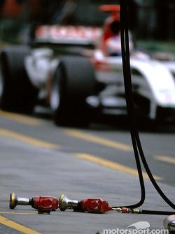 Jenson Button on pitlane