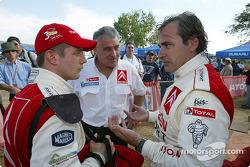 Sébastien Loeb, Guy Fréquelin and Carlos Sainz