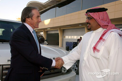 H.H. Shaikh Salman Bin Hamad Al Khalifa, The Crown Prince meets with Sir Jackie Stewart