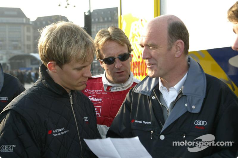 Mattias Ekström with Head of Audi Motorsport Dr Wolfgang Ullrich