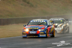 Marcos Ambrose under pressure from Mark Skaife