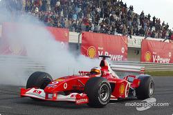 Rubens Barrichello at the Shell V-Power Challenge media event