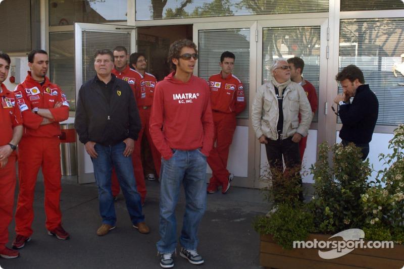 Valentino Rossi visits nearby Fiorano track: Valentino Rossi