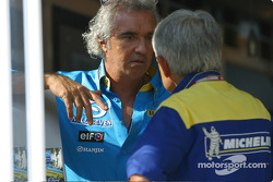 Flavio Briatore and Pierre Dupasquier