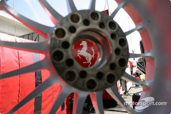Cavallino Rampante on a Ferrari wheel