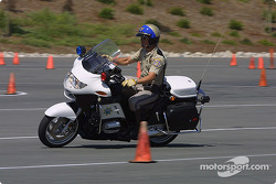 CHP Officer on the motorcycle skills competition course