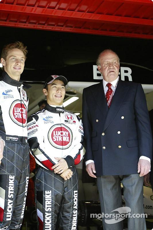 Jenson Button, Takuma Sato et le Roi Juan Carlos