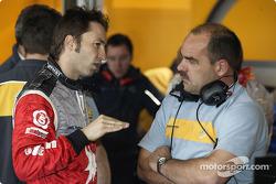 Heinz-Harald Frentzen and race engineer Jacques Hendrikse