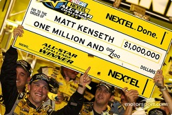 Victory lane: a cool million bucks for Matt Kenseth